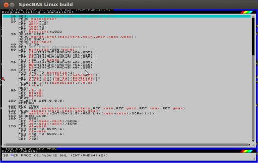 Listing Mandelbrot-Programm