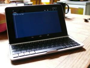 Nexus 7 im Tastaturdock